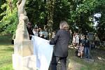 Tábor znovuodhalil sochu na hrobu Josefa Němce.
