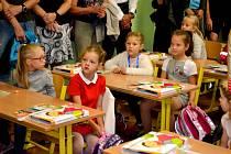 V pondělí 2. září s otevřely dveře i pro školáky na ZŠ Zborovská v Táboře. Pro některé poprvé...