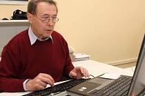 JUDr. Vladimír Hort při on-line rozhovoru v redakci Táborského deníku