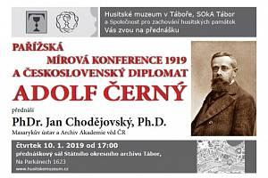 Plakát historické přednášky.