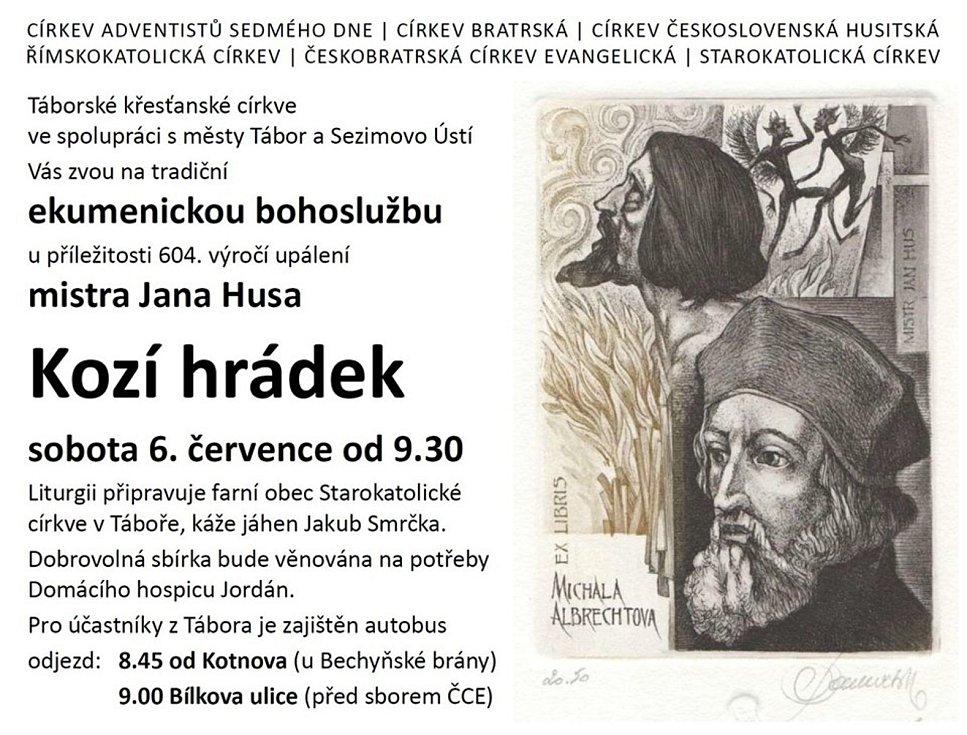 604 let uplyne v sobotu 6. července od smrti mistra Jana Husa, Tábor si tuto událost připomíná četnými kulturními akcemi.