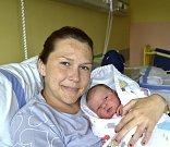 Zuzana Haboňová ze Sezimova Ústí. Na svět přišla jako druhé dítě v rodině 4. října ve 13.17 hodin. Vážila 3350 gramů, měřila 49 cm a už má jedenáctiletého brášku Jana.