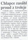 Novinový výstřižek o události ze dne 29. června 1999.