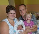 Tereza Tvrdá z Tábora. Na svět přišla jako druhá dcera v rodině 24. července v 17.22 hodin. Vážila 3210 gramů, měřila 49 cm a sestřičce Verunce je dvacet dva měsíců.