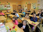 První školní den na ZŠ v Želči.