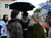 První školní den na Gymnáziu v Soběslavi.