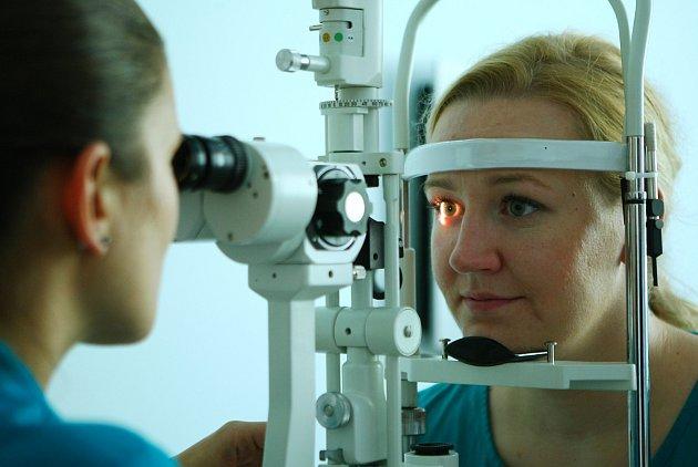 Ilustrační foto. Vyšetření oka