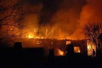 Požár v Sedlečku u Chotovin