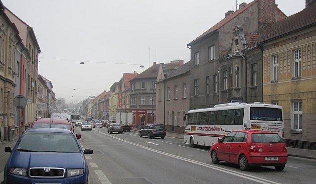 Budějovická ulice v Táboře.