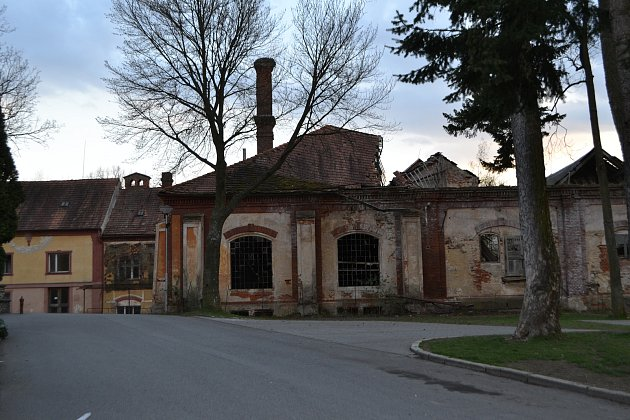 Bývalý pivovar vChýnově.