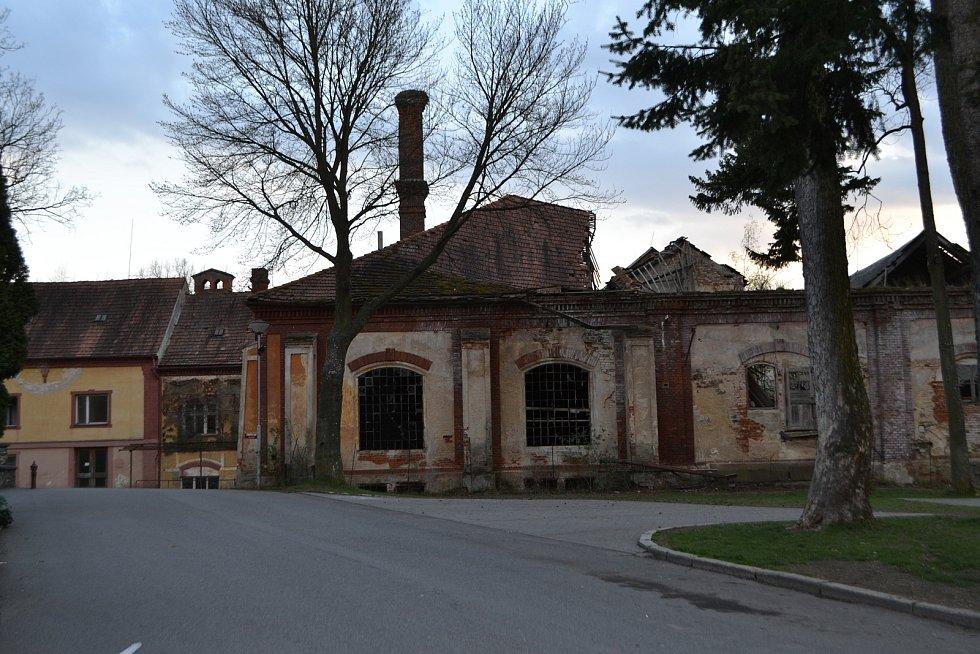 Bývalý pivovar v Chýnově.