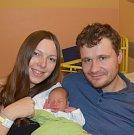 Filip Novák z Roudné. Prvorozený syn rodičů Aleny a Pavla přišel na svět 7. listopadu v 15.16 hodin. Jeho váha po narození byla 3250 gramů a měřil 48 cm.