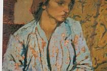 Na fotografii portrét Heleny Chvojkové z roku 1944, který maloval její manžel, Jiří Trnka.