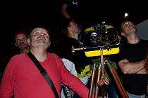 První akce na hvězdárně v Táboře po koronavirové odmlce se těšila obrovskému zájmu milovníků noční oblohy.