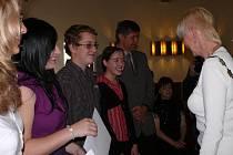 Setkání žáků s představiteli města.