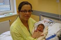 JAKUB LÍKAŘ ZE SOBĚSLAVI.  Jakub se narodil 1. června v 9.00 hodin. Porodní váha byla 3 260 gramů a míra 48 centimetrů.
