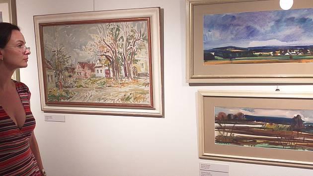 Originální malby krajin stojí za návštěvu muzea.