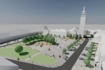 Dopravní struktura náměstí se nezmění. Prostor nabudí dojem celku a poslouží k relaxaci a setkávání.