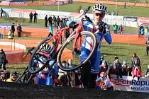 Snímek z loňského závodu Světového poháru v Táboře.