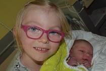 Barbora Kovářová z Plané nad Lužnicí. Narodila se  2. května  sedm minut po druhé hodině. Vážila 3290 gramů, měřila 50 cm a už má šestiletou sestřičku Aničku.