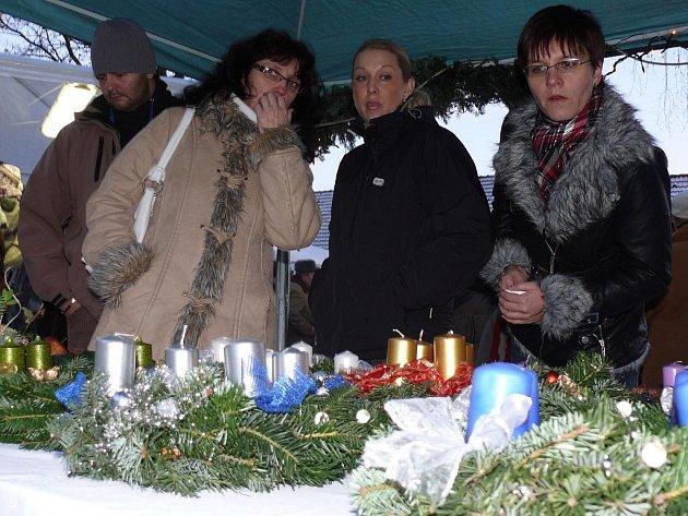První vánoční jarmark v Dražicích.