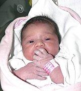 GITA KUBÍČKOVÁ Z MAŽIC. Sestřička Nelinky se narodila 6. prosince v 11.06 hodin. Její váha byla 3580 g a měřila 51 cm.