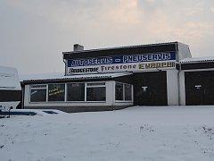 Motocentrum u dálnice v Táboře.