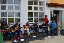 Slavnostní otevření nové budovy základní školy v Borotíně.