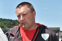 Trenér Táborska Miloslav Brožek.