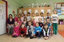 Děti z 1. A ZŠ Školní Bechyně.