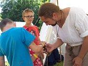 Návštěvníci festivalu se mohli seznámit s celou řadou historických řemesel.