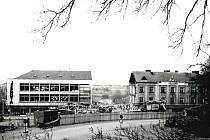 Stavební práce v Mladé Vožici během šedesátých a sedmdesátých let minulého století.