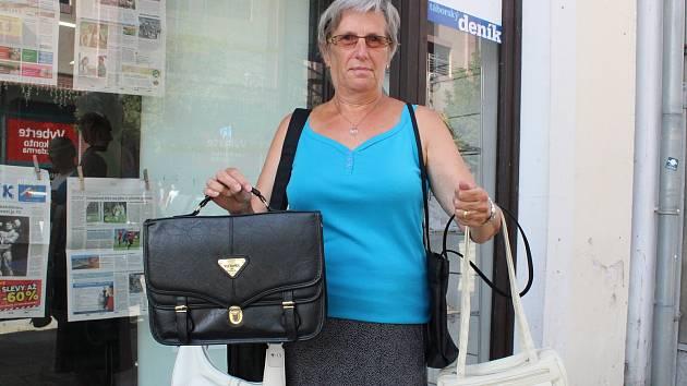 Dárkyně kabelek, Alena Nováková ze Smyslova.