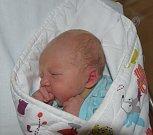 Eliáš Vacek ze Soběslavi. Na svět poprvé pohlédl 20. března v 15.35 hodin. Jeho váha po narození byla 3490 gramů, míra 49 cm a doma už má tři sourozence.