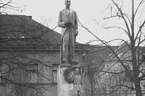 Socha Tomáše Garrigua Masaryka po roce 1945.