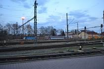 Odstavené vlaky na táborském nádraží. Ilustrační foto.