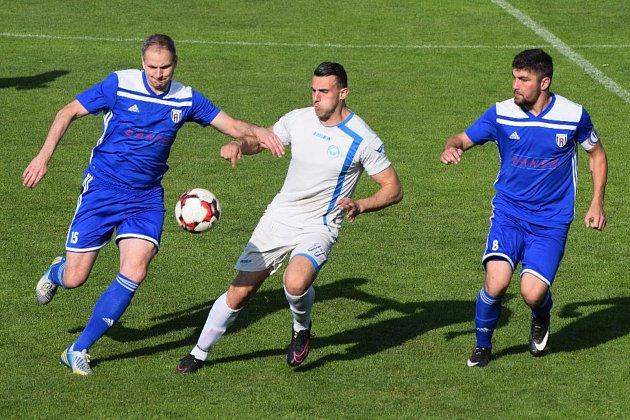 Divizní fotbal v Soběslavi.