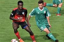 Ze středečního pohárového zápasu Sedlčany - Táborsko (0:4).