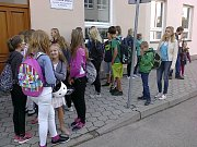 První školní den v ZŠ Komenského Soběslav.