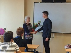 Studenty Táborského soukromého gymnázia navštívila pamětnice druhé světové války.