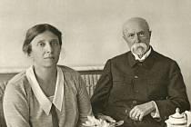 Charlotta Garrigue Masaryková s Tomášem G. Masarykem.