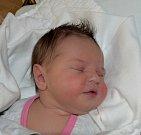 Barbora Hrstková z Červeného Záhoří. Rodiče Šárka a Libor se své prvorozené dcery dočkali 22. října v 16.26 hodin. Vážila 3858 gramů a měřila 52 cm.
