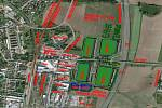 Původní vizualizace záměru průmyslového parku v Soběslavi vzbudil nevoli občanů, jednání o změnách a hledání kompromisu trvá už skoro půl roku.