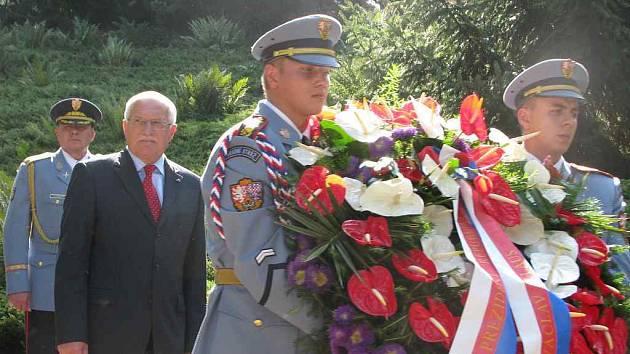 Prezident republiky Václav Klaus v Sezimově Ústí