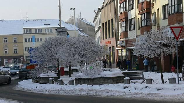 Křižíkovo náměstí - komunikační centrum Tábora před vstupem do Starého města má již pátý název.