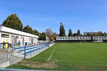Táborský fotbalový stadion Svépomoc.