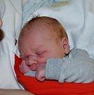 Jindřich Holub ze Sezimova Ústí. Narodil se 18. prosince v 8.28 hodin. Vážil 3100 gramů, měřil 49 cm a už má brášku Viliama, kterému je dvaadvacet měsíců.