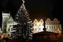 Vánoční náměstí v Táboře.