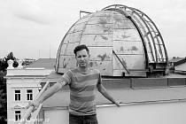 Výtvarník Richard Fischer kdysi vymaloval táborskou hvězdárnu.
