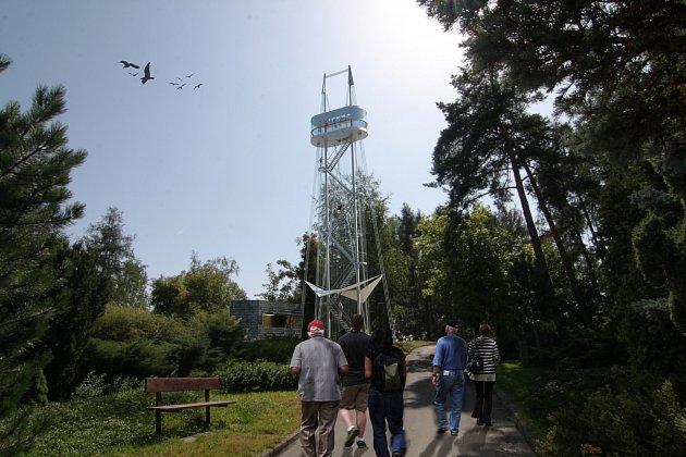 Budoucí podoba táborské rozhledny Hýlačka na Větrovech.